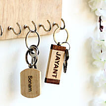 Personalised Name Key Chains Set of 2: Personalised Engraved