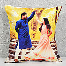 Personalised Photograph Cushion: Rakhi With Sweets to Bengaluru