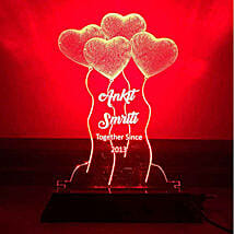 Personalised Red LED Heart Balloons Lamp: Home Decor