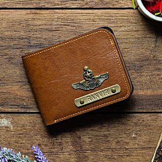 Personalised Tan Brown Mens Wallet: Buy Wallets