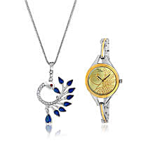 Personalised Watch & Beautiful Pendant: Watches for Her