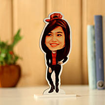 Personalised Woman Caricature: Rakhi Gifts for Sister
