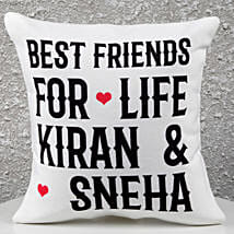 Personalized Best Friends Cushion: Gifts for Friends