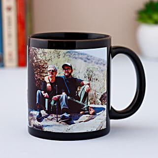 Personalized Black Mug: Birthday Personalised Gifts