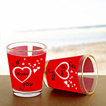 Personalized Couple Shot Glass: Send Gifts to Samastipur