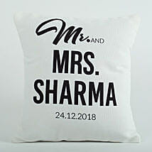 Personalized Cushion Mr N Mrs: Anniversary Gifts for Parents