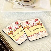 Personalized Floral Coasters: Personalised Gifts for New Year