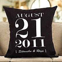 Personalized Important Date Cushion: Personalised Cushions