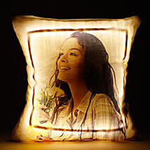 Personalized LED Cushion Yellow: Personalised Cushions for Valentine