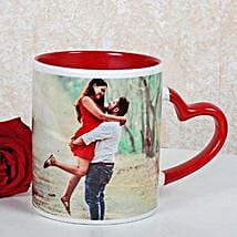 Personalized Red Ceramic Mug: Send Flowers to Fatehgarh Sahib