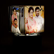 Personalized Rotating Lamp Mini: Send Anniversary Gifts for Husband