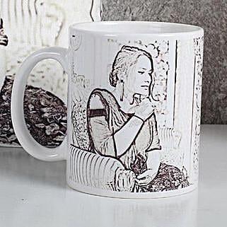Personalized Sketch Mug: Mothers Day Personalised Mugs