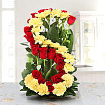 Personalised Floral Arrangement: Personalised Gifts for Wife