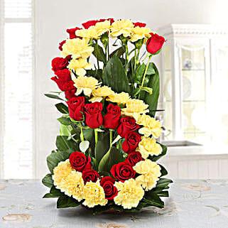Personalised Floral Arrangement: Carnations