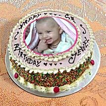 Photo Cake Vanilla Sponge: Photo Cakes to Noida