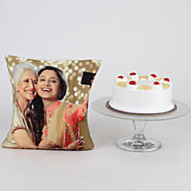 Picture Cushion & Pineapple Cake For Mom: Mothers Day Personalised Gifts