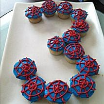 Platter of Spiderman Cupcakes: Send Cup Cakes