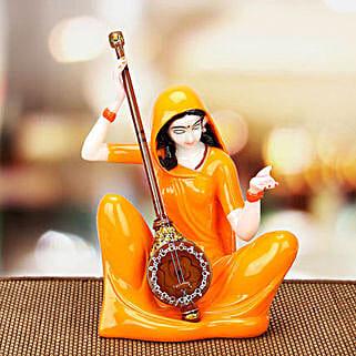 Premium Marble Mirabai Idol: Handicrafts to Delhi