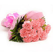 Pretty Pink Carnations Bouquet: Flowers to Rajkot