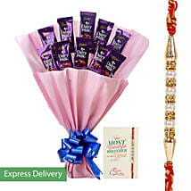 Rakhi Dairy Milk Combo: Send Rakhi to Machilipatnam