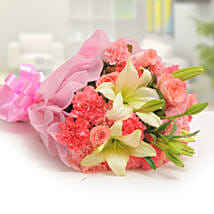 Ravishing Mixed Flowers Bouquet: Gifts Delivery In Hussainpura