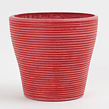 Recycled Plastic Lining Vase Red: Pots and Planters