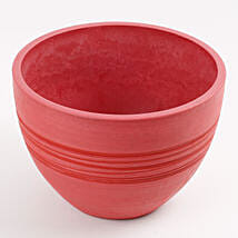 Recycled Plastic Red Vase: Pots for Plants