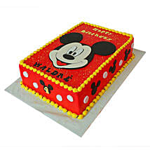 Red Mickey Mouse Cake: