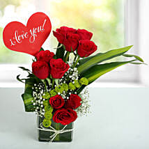 Red Roses Love Arrangement: Anniversary Flowers