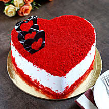 Red Velvet Heart Cake: Buy Eggless Cakes