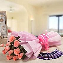 Rejoice Combo: Flowers & Chocolates for Propose Day