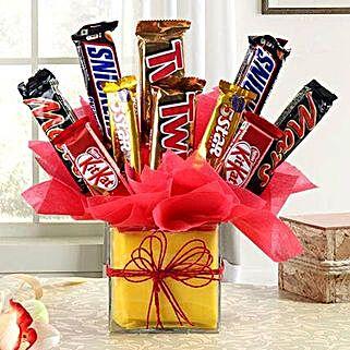 Delicious Chocolate Arrangement in Vase: