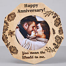 Romantic Anniversary One Personalised Wooden Frame: Personalised Photo Frames for Husband