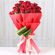 Romantic Red Roses Bouquet: Thinking for You Flowers
