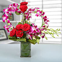 Rose and Orchid Arrangement: Orchids
