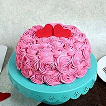 Rose Cream Valentine Cake: Cakes to Junagadh