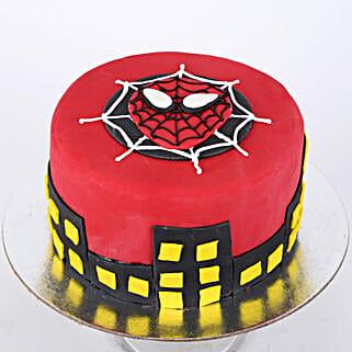 Round Fondant Spiderman Cake: Cartoon Cakes