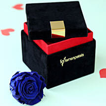 Royal- Forever Blue Rose in Velvet Box: Send Valentine Flowers to Agartala
