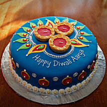 Royal N Flashy Diwali Cake: Send Diwali Gifts for Him