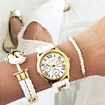 Sailor girl white bracelet stack: Buy Watches