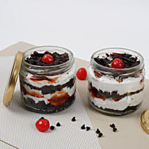 Set of 2 Sizzling Black Forest Jar Cake: Send Birthday Cakes to Lucknow