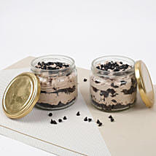 Set of 2 Vivacious Chocolate Jar Cake: Cake in a Jar