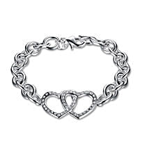 Silver Plated Heart Shaped Bracelet: Fashion Accessories