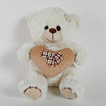 Small Teddy Bear With Heart & Patch-Pink: Send Soft Toys