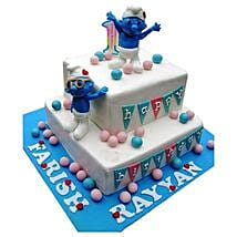 Smurfs Birthday Cake: 2nd Birthday Cakes