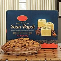 Soan N Almond Hamper: Sweets & Dry Fruits - Bhai Dooj