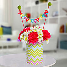 Special Birthday Vase Arrangement: Send Gifts to Pune