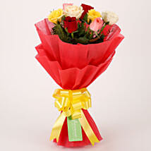 Special Mixed Roses Bouquet: Valentine Flowers Noida