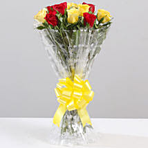 Striking Red & Yellow Rose Bouquet: Flowers to Tirupur