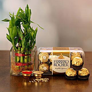 Sumptuous Combo: Order Plants n Chocolates